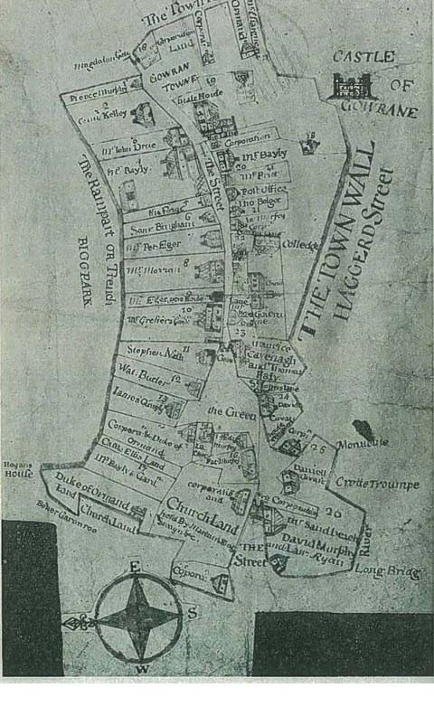 Gowran Map 1710